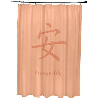 Chantilly Tranquility Print Shower Curtain Color: Coral