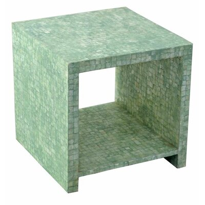 Pene Square End Table Color: Seafoam Green