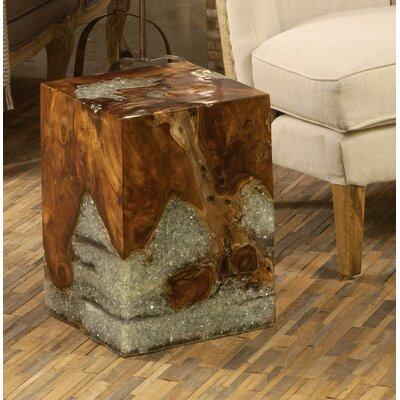 Pene Square Wood End Table