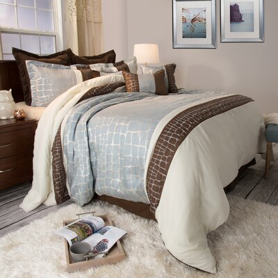 Suwannee Comforter Set Size: Queen, Color: Silver