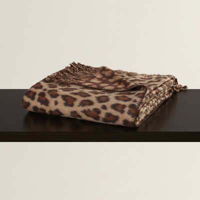 Zahra Leopard Print Throw Blanket