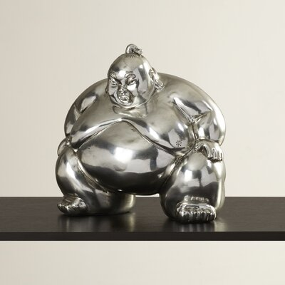 Walmond Electroplated Sumo Wrestler Hands Down Figurine BBMT8761 41620891
