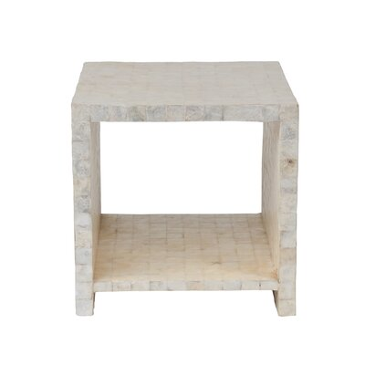 Pene Square End Table Color: White