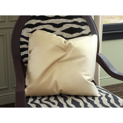 Holt Plain Silk Throw Pillow Size: 18x18