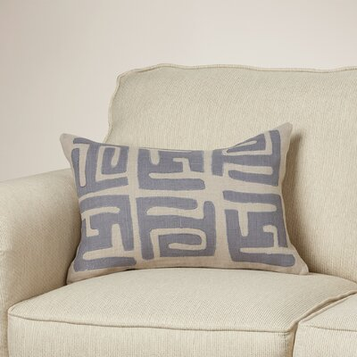 Alona Rectangular Lumbar Pillow Color: Charcoal/Light Gray