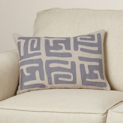 Alona Graphic Print Down Lumbar Pillow Color: Charcoal/Light Gray