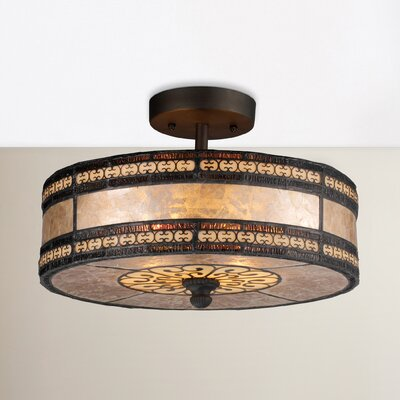 Varun 2-Light Semi Flush Mount