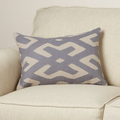Alona Linen Lumbar Pillow Color: Charcoal/Light Gray