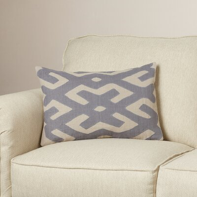 Alona Down Lumbar Pillow Color: Charcoal/Light Gray