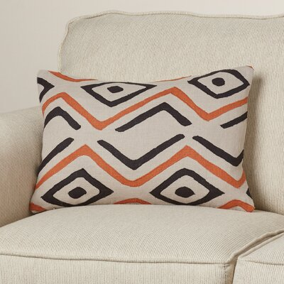Alona Graphic Print Rectangular Lumbar Pillow Color: Beige/Rust/Ivory