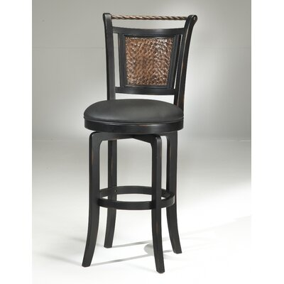 Ali 26.5 Swivel Bar Stool Finish: Black