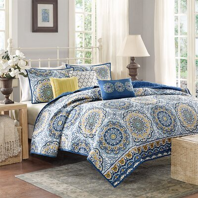 Dhawan Coverlet Set Color: Blue, Size: King/California King