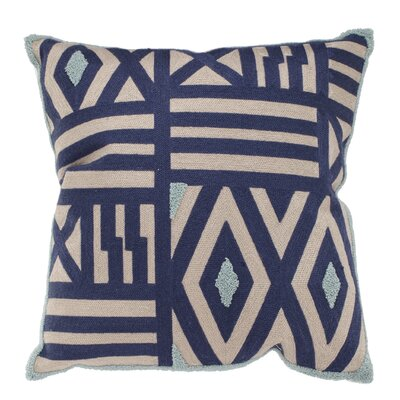 Jude Embroidered Throw Pillow Color: Blue