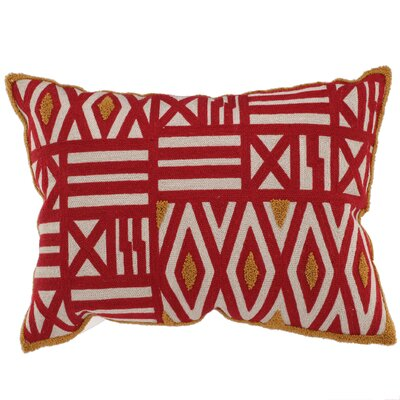 Embroidered Throw Pillow Color: Red