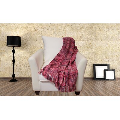 Lahr Oversized Throw Blanket Color: Raspberry