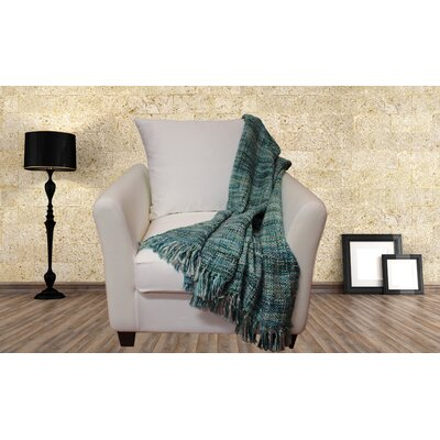 Lahr Oversized Throw Blanket Color: Aqua