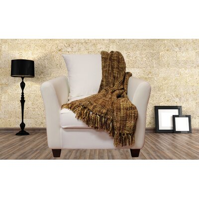 Lahr Oversized Throw Blanket Color: Terra