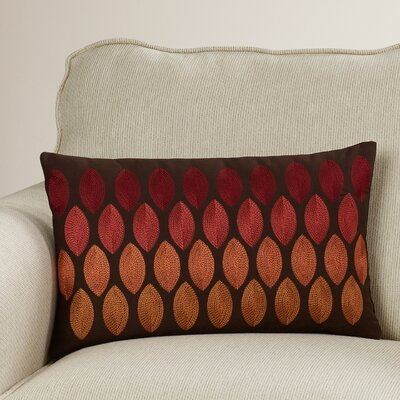 Ulibarri 100% Cotton Lumbar Pillow Color: Red