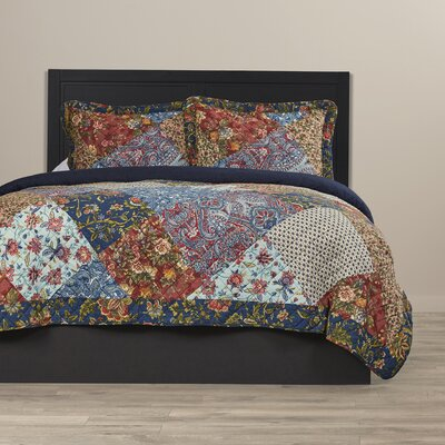 Hajar 3 Piece Quilt Set Size: King