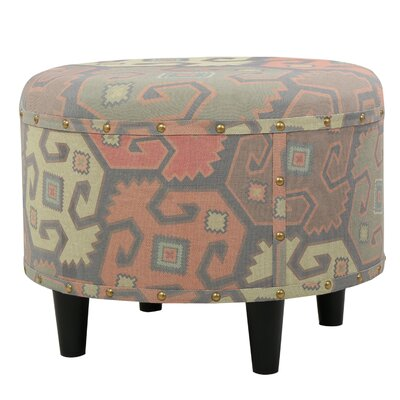 Acosta Round Fabric Ottoman