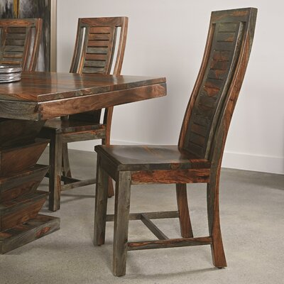 Monroy Solid Wood Dining Chair (Set of 2)