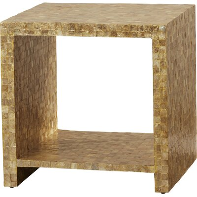 Pene Square End Table Finish: Gold