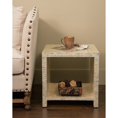Pene Square End Table Finish: White
