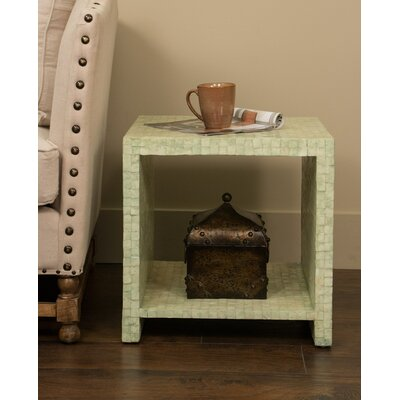 Pene Square End Table Finish: Seafoam Green