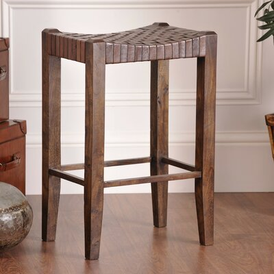 Angelica 30 inch Bar Stool Upholstery: Sienna Brown