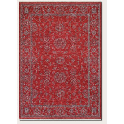Amity Red Area Rug Rug Size: 47 x 64