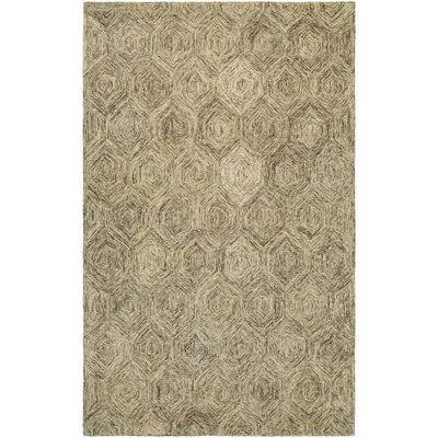Amsterdam Hand-Woven Ivory Area Rug Rug Size: 56 x 8