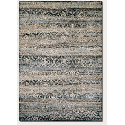 Anselma Black/Brown Area Rug Rug Size: 53 x 76
