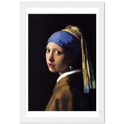 'Girl With The Pearl Earring' Framed Painting Print Size: 24