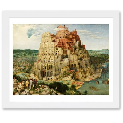 'The Tower of Babel' by Bruegel Framed Painting Print Size: 17