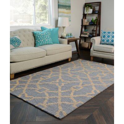Amityville Hand-Woven Slate/Natural Area Rug Rug Size: 5 x 8