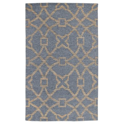 Amityville Hand-Woven Slate/Natural Area Rug Rug Size: 2 x 3