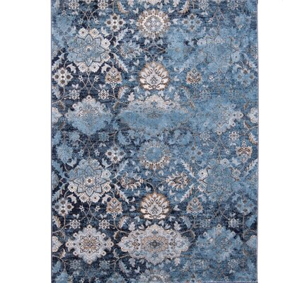 Aquashicola Distressed Blue Area Rug Rug Size: 710 x 102