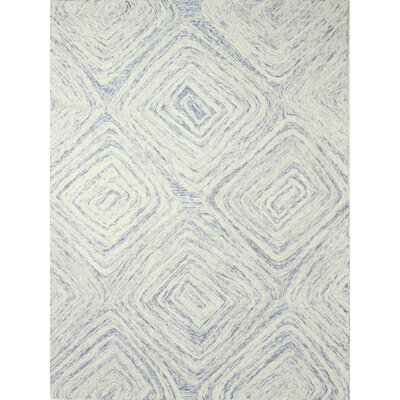Abrams Hand-Tufted Beige/Blue Area Rug Rug Size: Rectangle 5 x 7