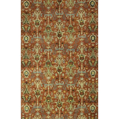 Abrams Hand-Tufted Rust Area Rug Rug Size: Rectangle 76 x 96