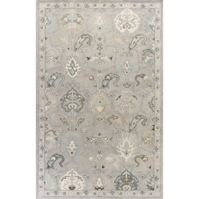 Vann Hand-Tufted Light Gray Area Rug Rug Size: 5 x 8