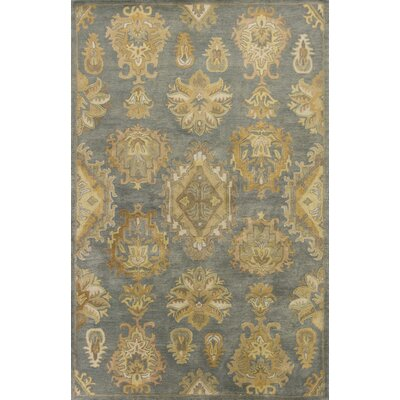 Vann Hand-Tufted Gold Area Rug Rug Size: 5 x 8