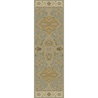 Nadir Hand-Tufted Slate Gray Area Rug Rug Size: Runner 23 x 76