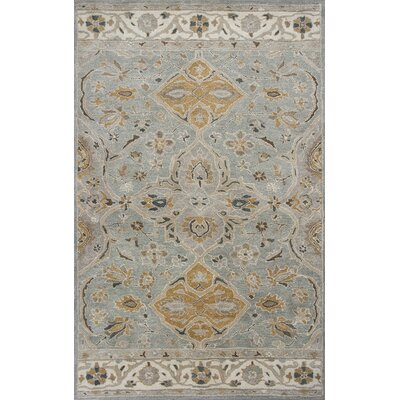 Nadir Hand-Tufted Slate Gray Area Rug Rug Size: Rectangle 86 x 116