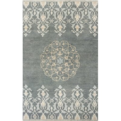 Nadir Hand-Tufted Charcoal Area Rug Rug Size: Rectangle 33 x 53