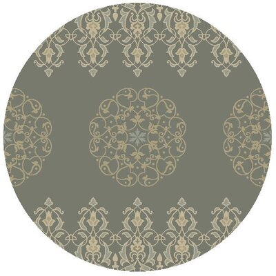 Nadir Hand-Tufted Charcoal Area Rug Rug Size: Round 56