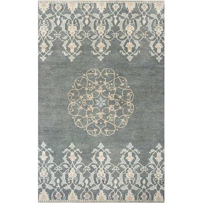Nadir Hand-Tufted Charcoal Area Rug Rug Size: 79 x 96
