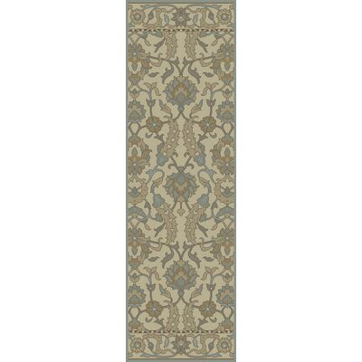Nadir Hand-Tufted Ivory Area Rug Rug Size: Rectangle 79 x 96