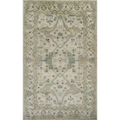 Rania Hand-Tufted Beige Area Rug Rug Size: 33 x 53