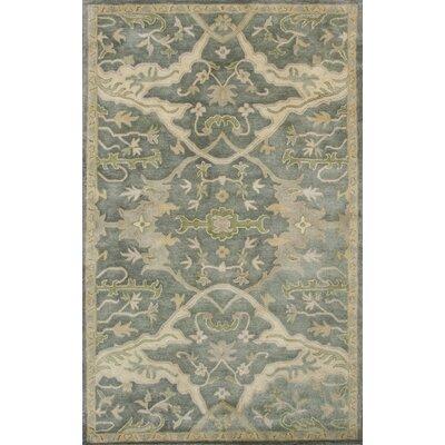 Vann Hand-Tufted Slate Blue Area Rug Rug Size: 33 x 53