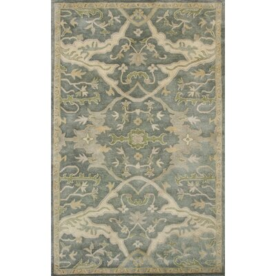Vann Hand-Tufted Slate Blue Area Rug Rug Size: 5 x 8